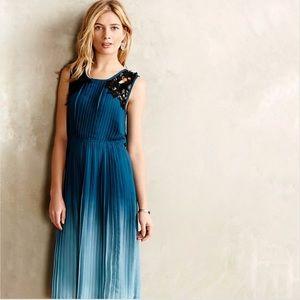 Anthropologie Baraschi Cerulean Depths Midi Dress